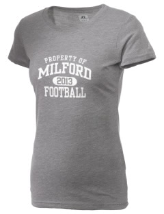 Milford High School Hawks  Russell Women's Campus T-Shirt