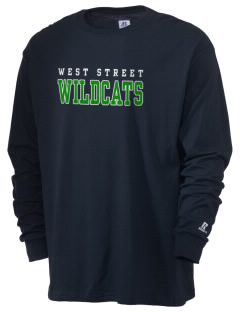 West Street Elementary School Wildcats  Russell Men's Long Sleeve T-Shirt