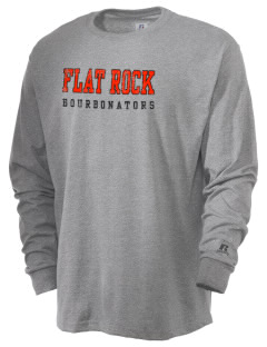 Flat Rock Technical School Bourbonators  Russell Men's Long Sleeve T-Shirt