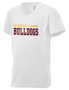 Southwest Community Campus Bulldogs Kid's V-Neck Jersey T-Shirt