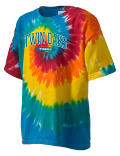 Twin Oaks High School Tiger Kid's Tie-Dye T-Shirt