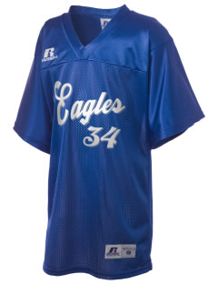 Troy Union Elementary School Eagles Russell Kid's Replica Football Jersey