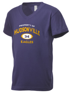Hudsonville High School Eagles Kid's V-Neck Jersey T-Shirt