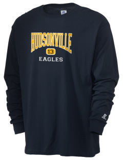Hudsonville High School Eagles  Russell Men's Long Sleeve T-Shirt