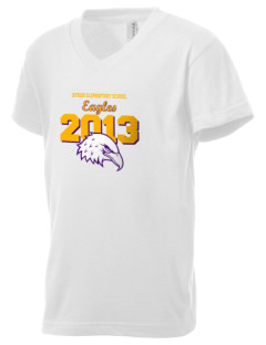 Byron Elementary School Eagles Kid's V-Neck Jersey T-Shirt