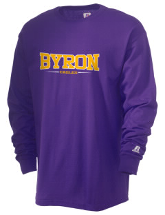 Byron Elementary School Eagles  Russell Men's Long Sleeve T-Shirt