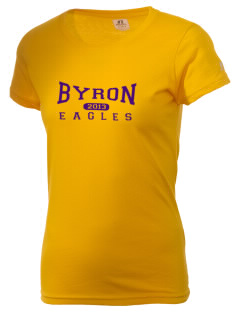 Byron Elementary School Eagles  Russell Women's Campus T-Shirt