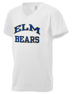 Elm Elementary School Bears Kid's V-Neck Jersey T-Shirt