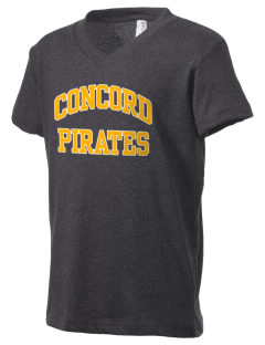 Concord Elementary School Pirates Kid's V-Neck Jersey T-Shirt