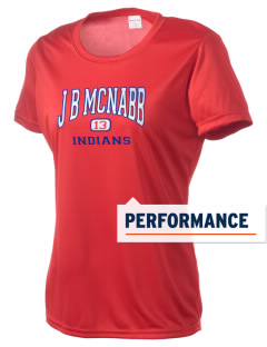 J B McNabb Middle School Indians Women's Competitor Performance T-Shirt