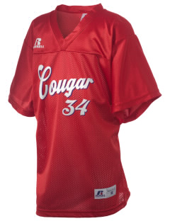 campus community school cougar Russell Kid's Replica Football Jersey