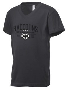 South Egg Harbor Elementary School Raccoons Kid's V-Neck Jersey T-Shirt