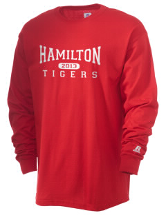 Hamilton Primary School Tigers  Russell Men's Long Sleeve T-Shirt