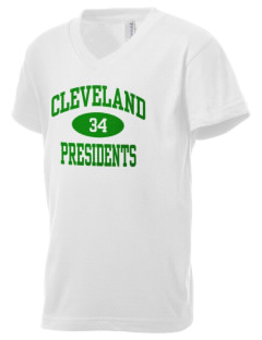 Grover Cleveland High School Presidents Kid's V-Neck Jersey T-Shirt