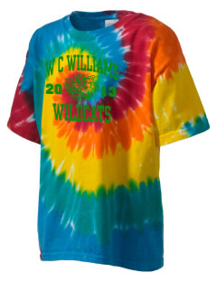 W C Williams Elementary School Wildcats Kid's Tie-Dye T-Shirt