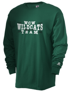 W C Williams Elementary School Wildcats  Russell Men's Long Sleeve T-Shirt