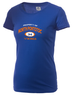 North Pontotoc High School Vikings  Russell Women's Campus T-Shirt