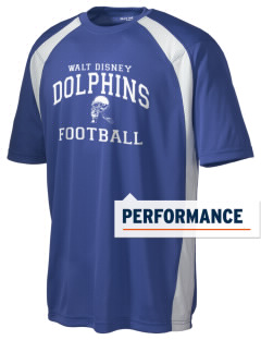 Walt Disney Elementary School Dolphins Men's Dry Zone Colorblock T-Shirt