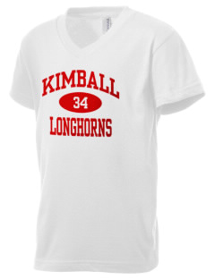 Kimball High School Longhorns Kid's V-Neck Jersey T-Shirt