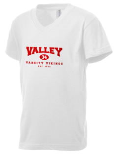 Valley High School Vikings Kid's V-Neck Jersey T-Shirt