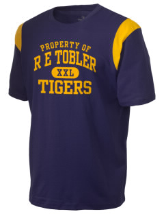 R E Tobler Elementary School Tigers Holloway Men's Rush T-Shirt