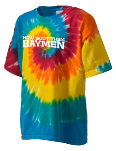 Hampton Bays Secondary School Baymen Kid's Tie-Dye T-Shirt
