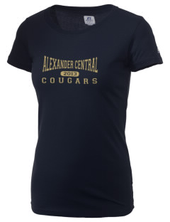 Alexander Central High School Cougars  Russell Women's Campus T-Shirt