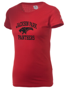 Jackson Park Elementary School Panthers  Russell Women's Campus T-Shirt