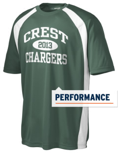 Crest High School Chargers Men's Dry Zone Colorblock T-Shirt