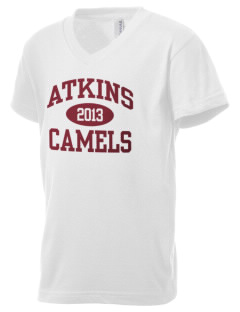 Atkins Middle School Camels Kid's V-Neck Jersey T-Shirt