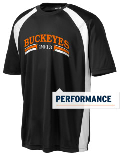 Nelsonville York Elementary School Buckeyes Men's Dry Zone Colorblock T-Shirt