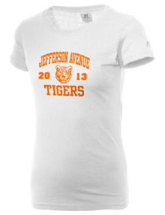 Jefferson Avenue Elementary School Tigers  Russell Women's Campus T-Shirt