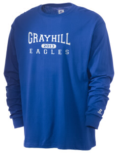 Grayhill Elementary School Eagles  Russell Men's Long Sleeve T-Shirt