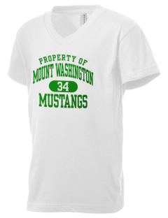 Mount Washington Elementary School Mustangs Kid's V-Neck Jersey T-Shirt