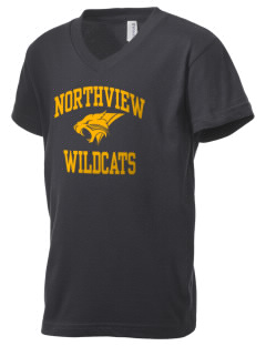 Northview High School Wildcats Kid's V-Neck Jersey T-Shirt