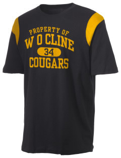 W O Cline Elementary School Cougars Holloway Men's Rush T-Shirt