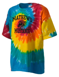 Mathews High School Mustangs Kid's Tie-Dye T-Shirt