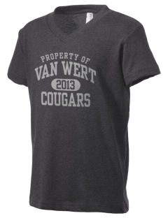 Van Wert High School Cougars Kid's V-Neck Jersey T-Shirt