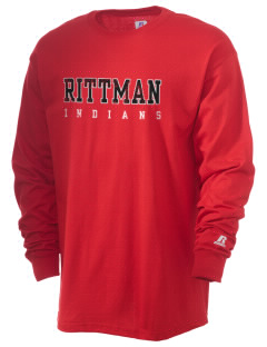 Rittman High School Indians  Russell Men's Long Sleeve T-Shirt
