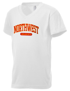 Northwest 6th Grade Center Wildcats Kid's V-Neck Jersey T-Shirt