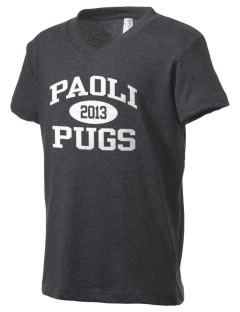 Paoli High School Pugs Kid's V-Neck Jersey T-Shirt
