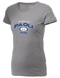 Paoli High School Pugs  Russell Women's Campus T-Shirt