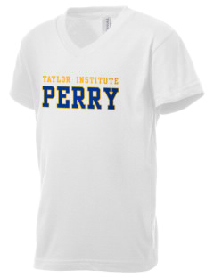 Taylor Technical Institute Perry Kid's V-Neck Jersey T-Shirt