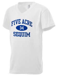 Five Acre School Sequim Kid's V-Neck Jersey T-Shirt