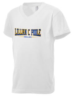 Lillian C Poole Elementary School Dallas Kid's V-Neck Jersey T-Shirt