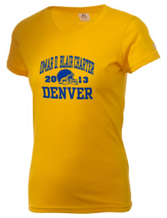 Omar D. Blair Charter School Denver  Russell Women's Campus T-Shirt