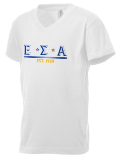 Epsilon Sigma Alpha Kid's V-Neck Jersey T-Shirt