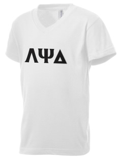 Lambda Psi Delta Kid's V-Neck Jersey T-Shirt