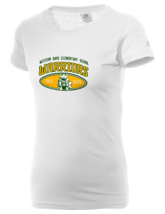 Western Oaks Elementary School Warriors  Russell Women's Campus T-Shirt