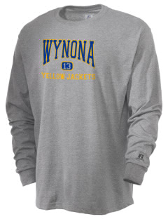 Wynona Schools Yellow Jackets  Russell Men's Long Sleeve T-Shirt